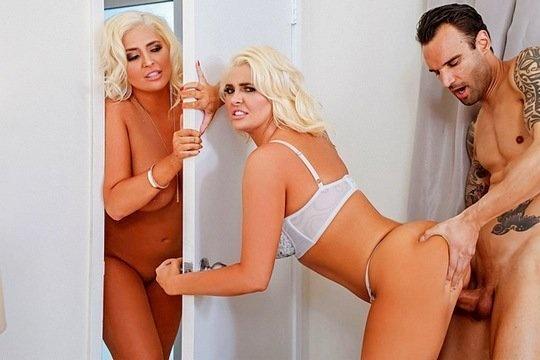 Зрелая блондинка Kristina Shannon и ее сестра близняшка делят общего любовника